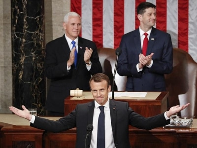 Emmanuel Macron hails freedom 'rendez-vous' in US Congress speech