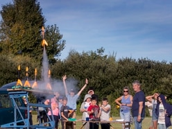 Scouts fire handmade rockets up to 1,000ft