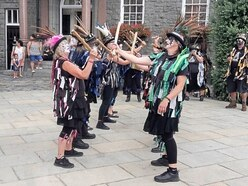 UK morris dance groups take part in island festival