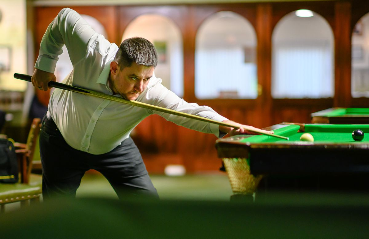 Martyn Desperques is into another Island Snooker Championship final. (Picture by Andrew Le Poidevin, 29755668)