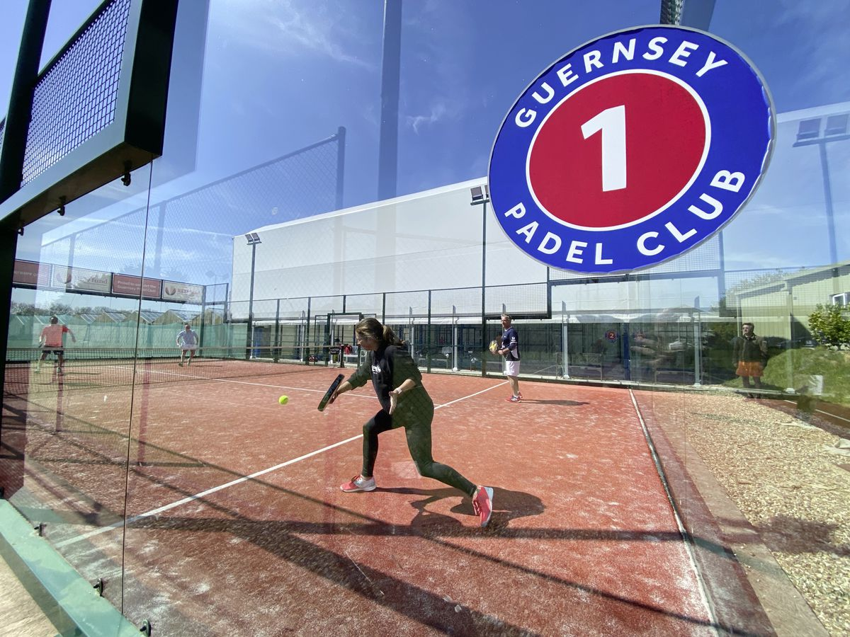 There are currently three padel courts at Longcamps, with plans to add two more by autumn. (29485008)