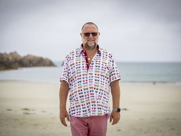 Peter Leigh is the organiser of the Guernsey event in the Great British Skinny Dip next month. It will raise money for Male Uprising Guernsey, the British Heart Foundation and Pink Ladies Guernsey. (Picture by Sophie Rabey, 29739301)