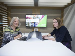 Guernsey Games officials Dame Mary Perkins and Julia Bowditch (right). (Picture By Peter Frankland, 29376001)