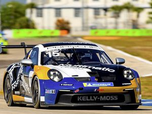 In the fast lane: Seb Priaulx during the practise sessions for the first meeting of the Porsche Carrera Cup North America series.(Picture from Porsche North America, 29349773)