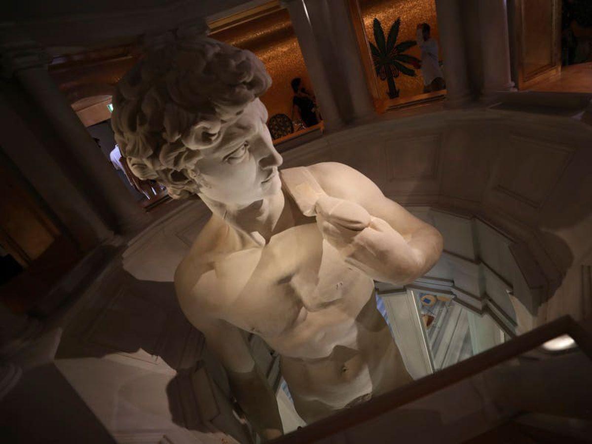 Display of David statue raises art or censorship debate at world's fair in Dubai
