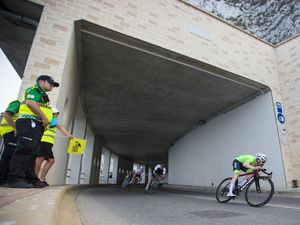 Waiting for light at the end of the tunnel: Sam Culverwell, pictured riding at the Gibraltar 2019 NatWest International Island Games, says he feels stronger and fitter than ever before as he continues training in anticipation of making his Trinity Racing debut. (Picture by Peter Frankland, 27556902)