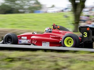 Pic supplied by Andrew Le Poidevin: 20-07-2019. The GMC&CC organised rounds 21 and 22 of the Avon Tyres/Wynn Developments Motorsport UK British Hillclimb at Le Val des Terres. Round winner Wallace Menzies. (25297870)