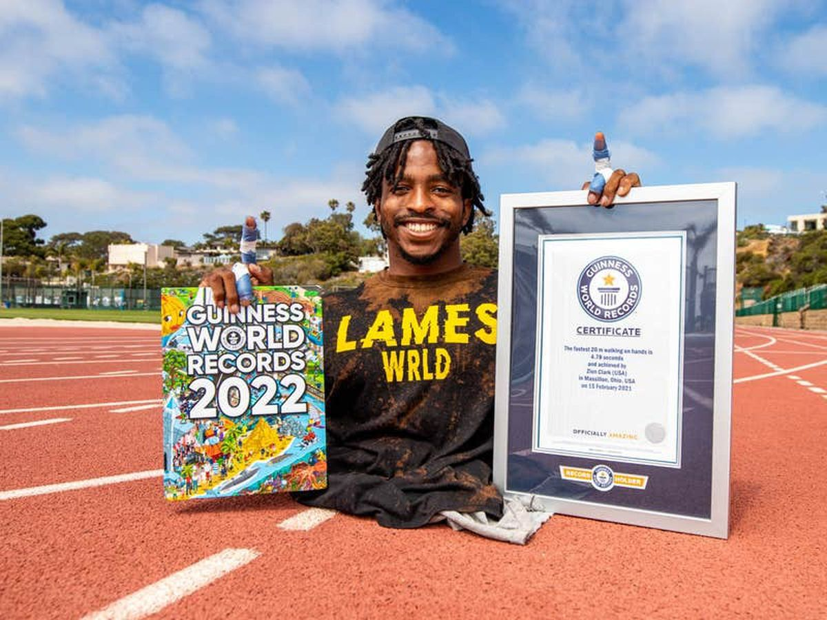 Hair-skipping and hand-walking feature in new Guinness World Records