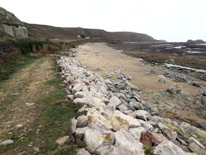 The Clonque Bay area, which is exposed to rough seas, is in need or repairs. (Archive picture)