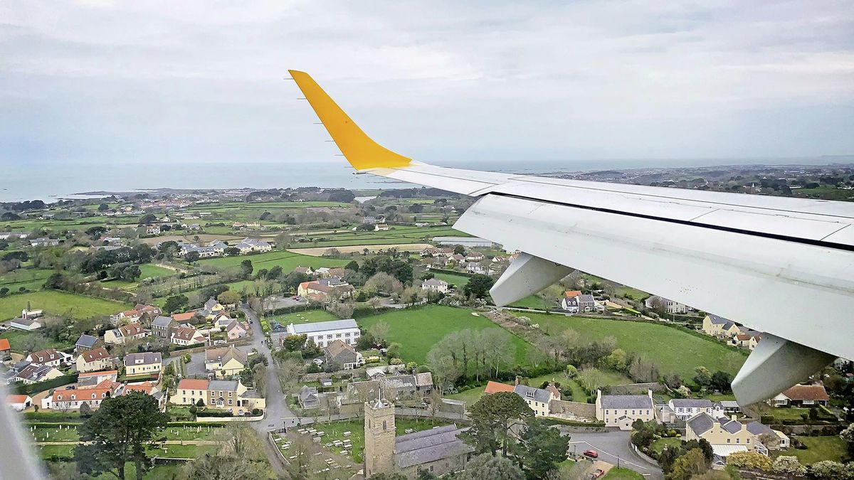Ariel shot of Guernsey from the Aurigny jet. Picture taken by pilot Tristan Marchent. (29327438)