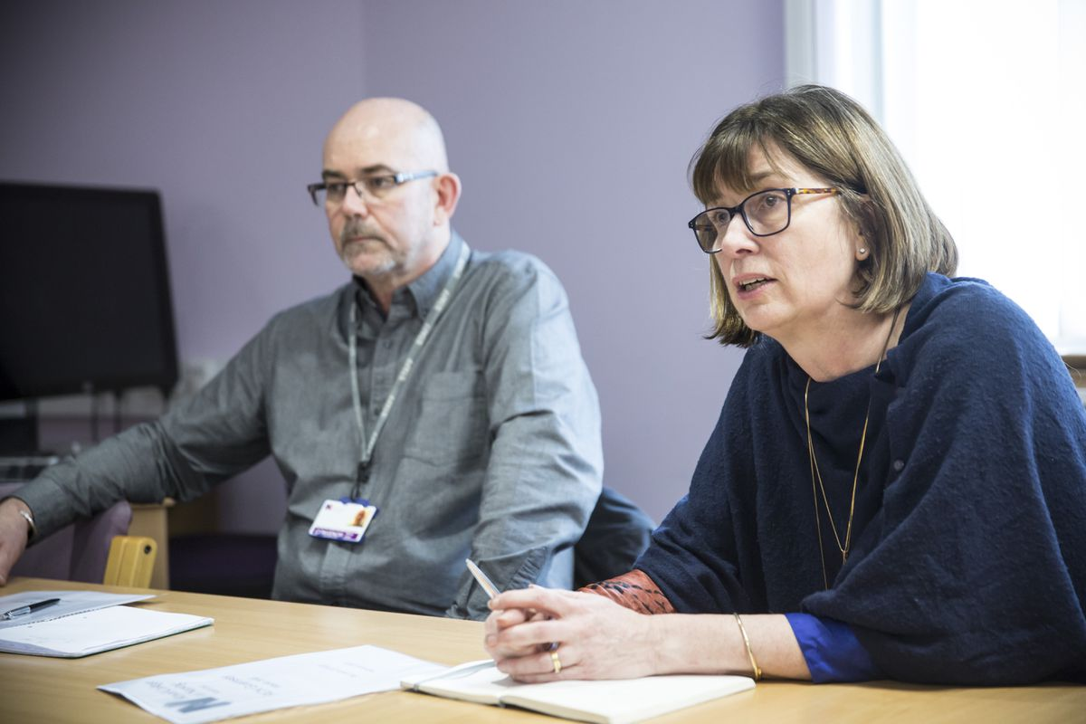 RCN convenor Kenny Lloyd and regional director Patricia Marquis. (Picture by Adrian Miller, 29068009)