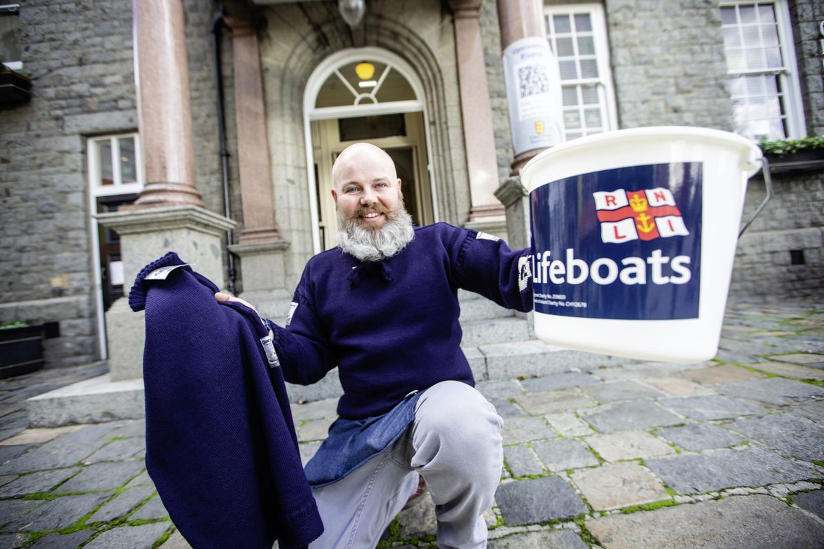 Paul Eldridge of Guernsey Woolens who helped to organise the event. (Picture by Peter Frankland ,28930472)