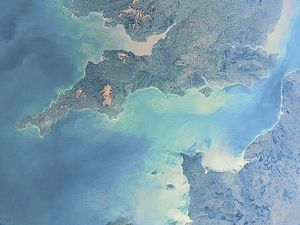 The UK and Channel Islands as seen from the International Space Station.