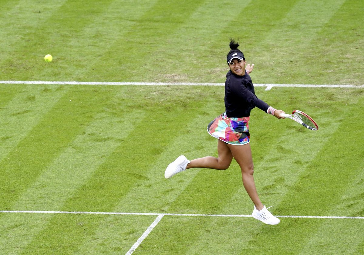 Heather Watson during her match against Poland's Iga Swiatek in the Viking International at Devonshire Park, Eastbourne. (Picture from PA Wire/PA Images, 29686559)