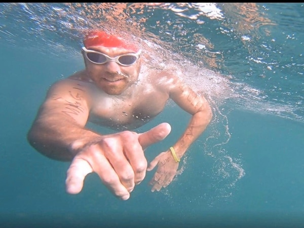 Aussie Nick is one of the fastest to swim the English Channel