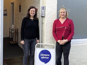 Citizens Advice Guernsey has reopened its office on The Bridge. Pictured are CAG chief executive Kerry Ciotti [left] and deputy chief executive Ali Marquis. (29354590)
