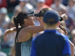 British numbers two and one respectively Heather Watson, left, and Johanna Konta. (Picture by B&O Press Photo, 29186404)