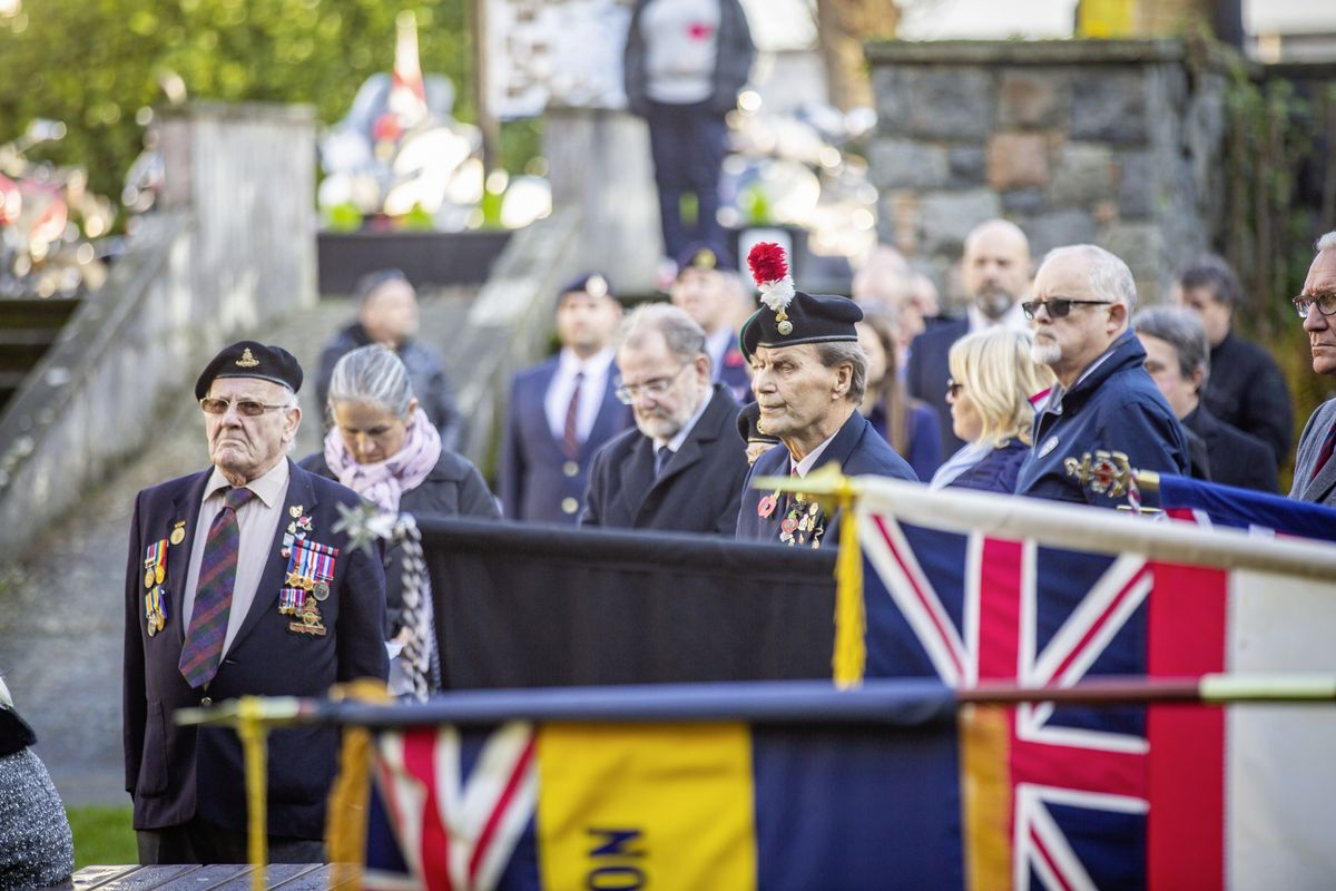 The Royal Guernsey Light Infantry Memorial Day Service at the Sunken Gardens yesterday. (Pictures by Sophie Rabey, 28962913)
