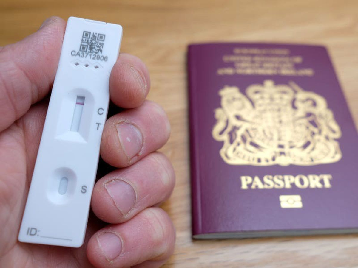 Lateral flow tests replacing PCRs for vaccinated arrivals at half-term