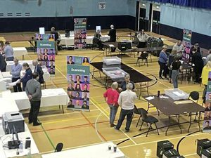 The election recount is underway, as this photo published on social media by the Guernsey election 2020 team shows. (28784743)