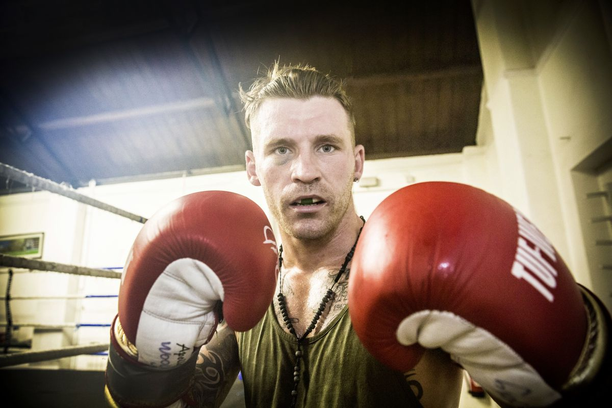 Back and raring to go: Middleweight favourite James Woolnough. (Picture by Adrian Miller, 26006611)