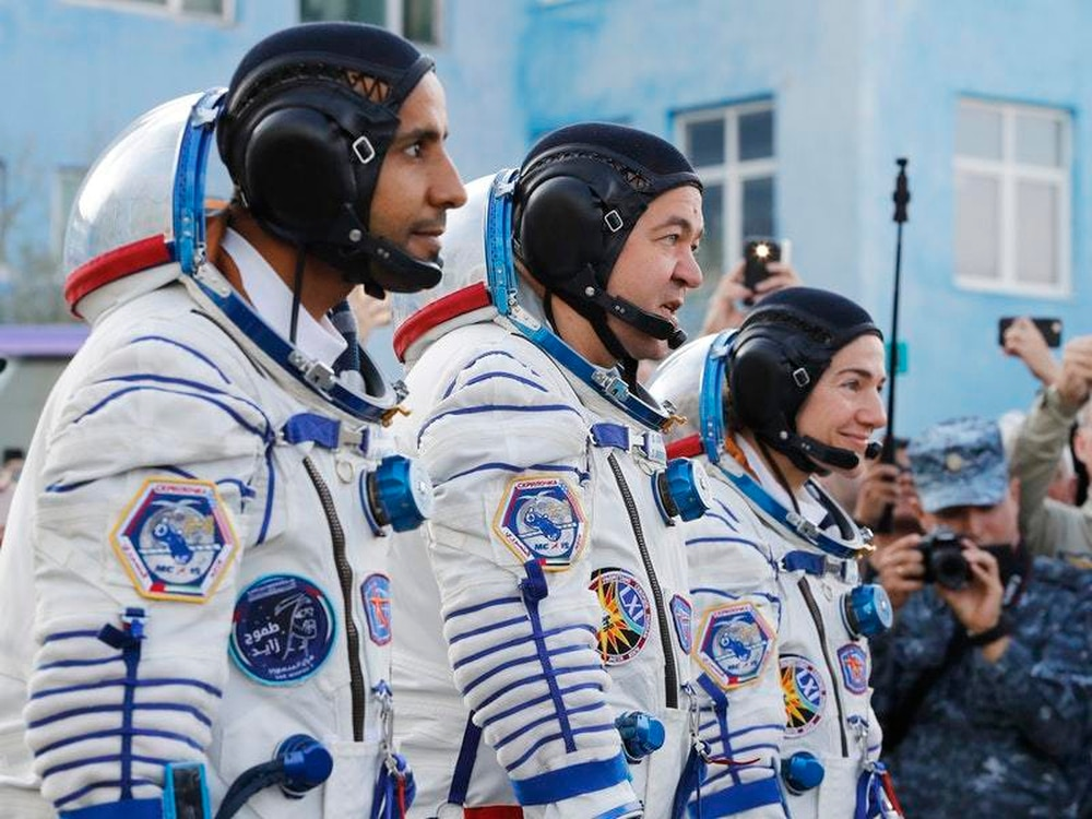 First Emirati astronaut celebrates his first day at Space Station