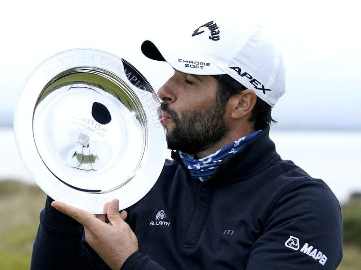 Spain's Adrian Otaegui finishes with a flourish to win Scottish Championship