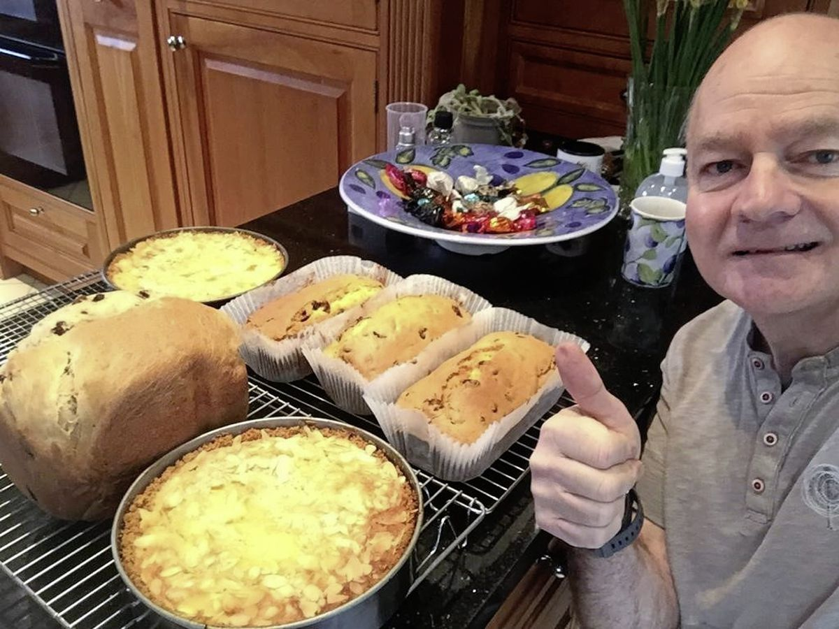 Stroke survivor Tony Robinson has been baking cakes for staff at the PEH during lockdown as a way of giving back to the service which has helped him on his road to recovery. Image supplied. (29273184)