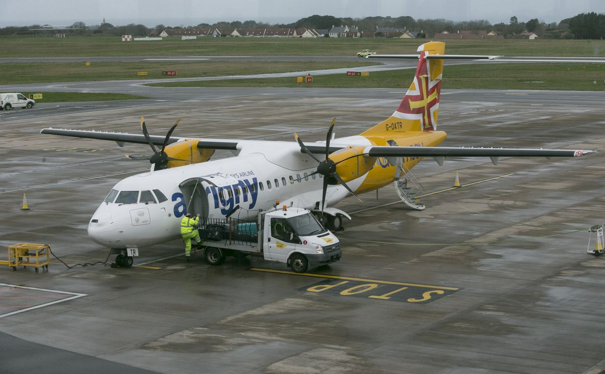 Aurigny has been using its smaller ATR aircraft during the lockdown, as passenger numbers dropped.