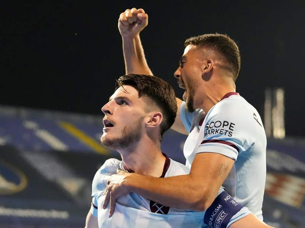 Michail Antonio and Declan Rice fire West Ham to victory over Dinamo Zagreb