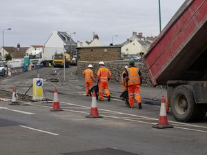 Picture By Cassidy Jones. 17-06-21 Le Banques, road works. (29669446)