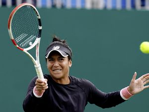 Great Britain's Heather Watson during her match against Poland's Iga Swiatek on day four of the Viking International at Devonshire Park, Eastbourne. Picture date: Tuesday June 22, 2021.. (29686565)