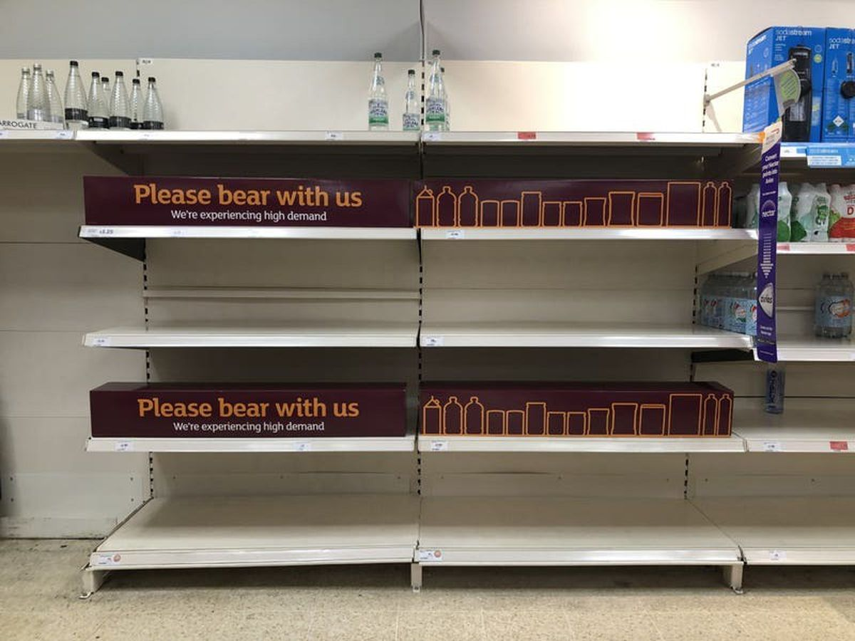 Supermarket shoppers urged not to stockpile amid 'perfect storm'