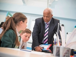 Lord impressed by Amherst pupils' maths skills