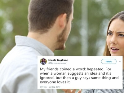 Meet 'hepeated' – the new word people are loving that's even more irritating than mansplaining