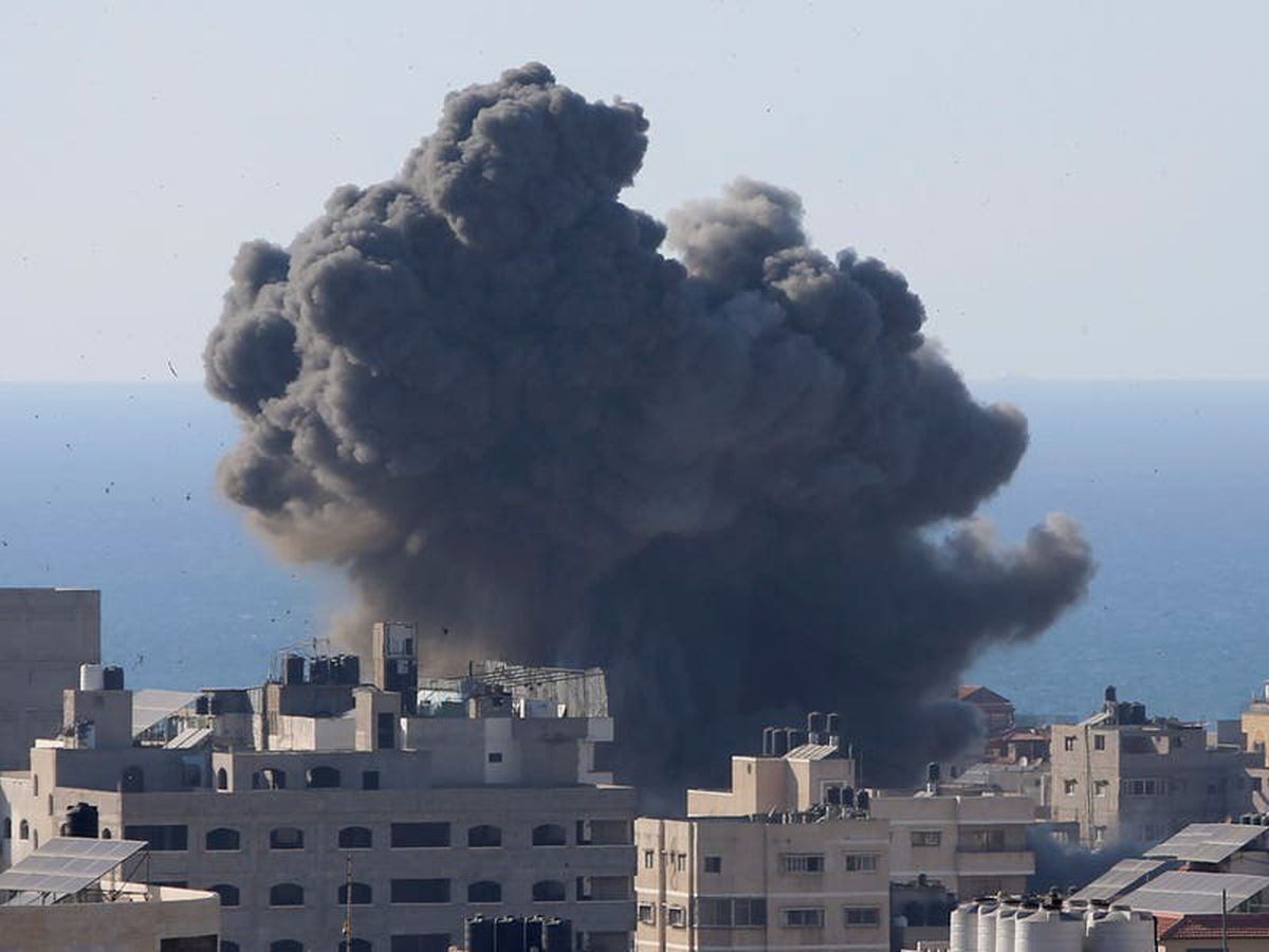 Israeli air strike destroys media offices in Gaza City