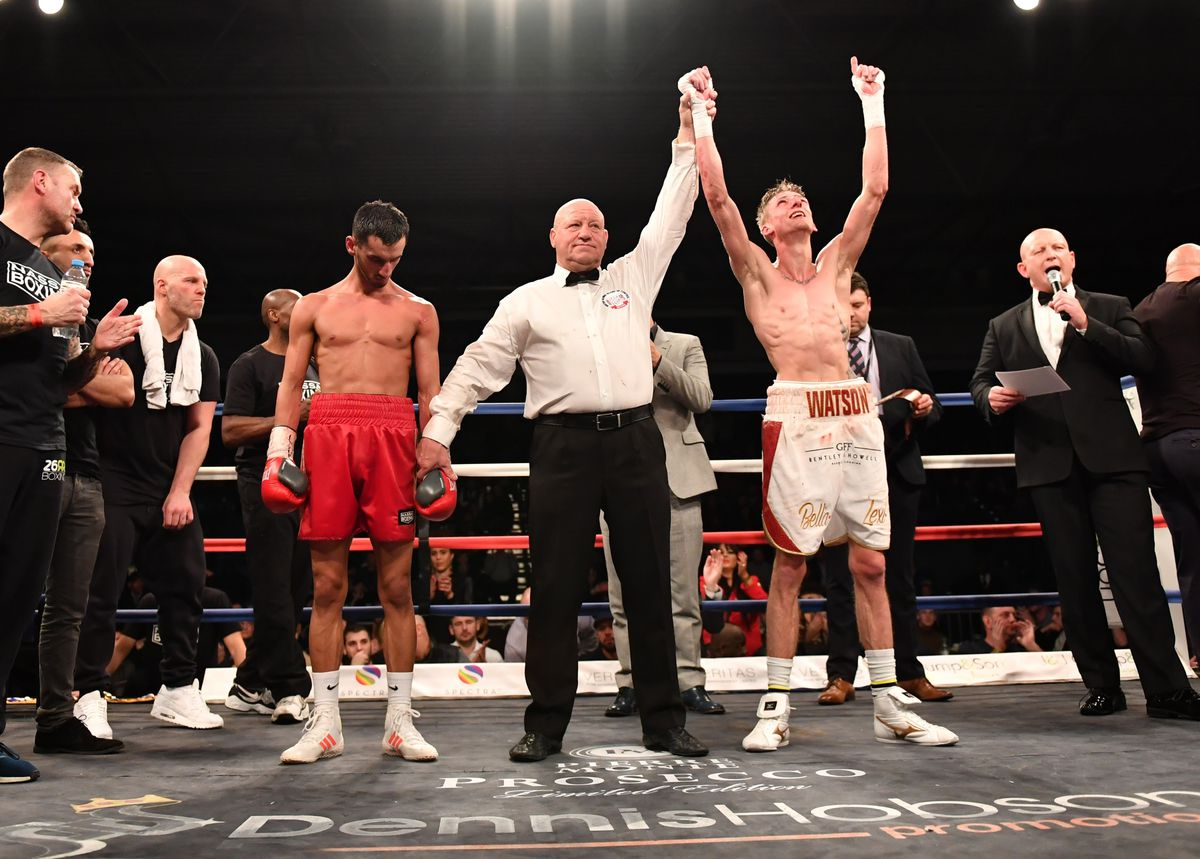 The highlight of Guernsey boxer Brad Watson's professional career was when he won the vacant English super-flyweight title by beating Loua Nassa in Sheffield with a 10th round stoppage in February 2018. (26159729)