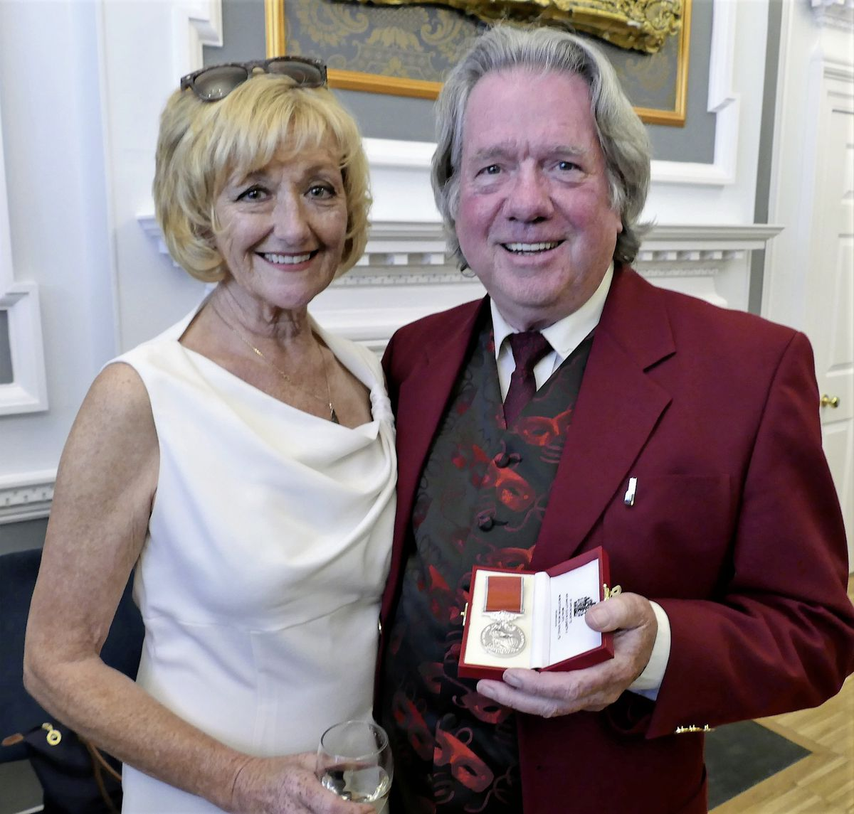 Ronnie Cairnduff and his wife, Lesley.