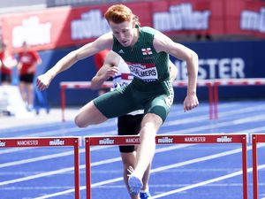 Alastair Chalmers was one-hundredth of a second outside of the Guernsey 400m hurdles record in Switzerland at the weekend. (Picture by Athletics Images, 29879498)