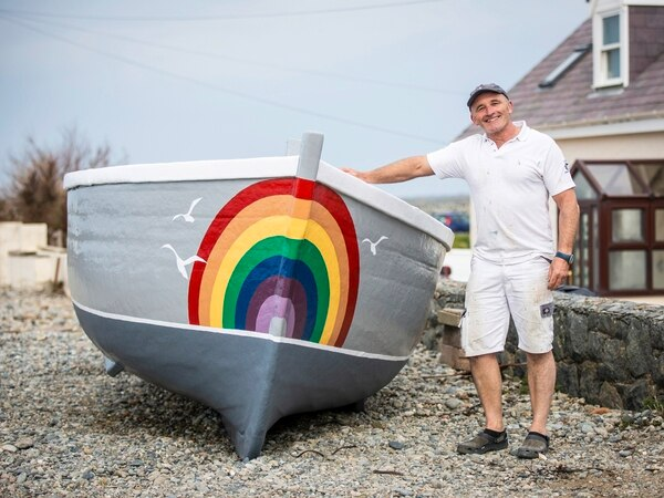 Rainbows everywhere – on vineries, boats and even sheep