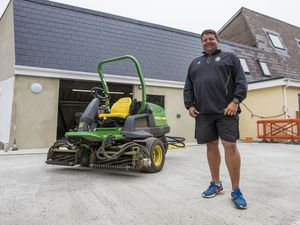 Picture By Peter Frankland. 29-05-19 Stuart Le Prevost at the KGV's new groundsman building.. (29219339)