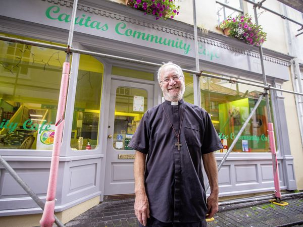 The Rev. Richard Bellinger, one of the trustees of the Caritas Cafe in Mill Street, is unsure about its future with the building in which it operates being sold by the Deanery Fund. (Picture by Sophie Rabey, 29673026)