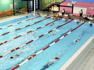 The Guernsey Swimming Club have returned to training as the island moved to stage three of the exit from lockdown, 22-03-21. Picture supplied by Anne Cann, secretary of the Guernsey Swimming Club (29362426)