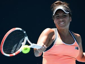 Australian Open Tennis. Heather Watson was in impressive form against Kristyna Pliskova in the first round in Melbourne, 09-02-21. Picture by Andy Brownbill/AP (29226440)