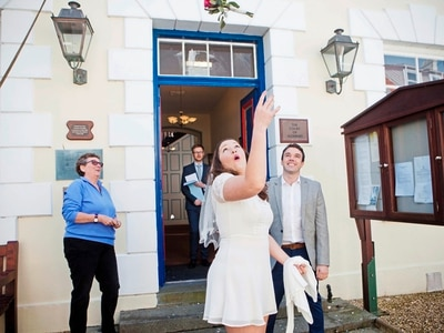 Alderney is perfect for couple's speedy wedding
