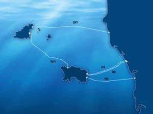 The power cables between the Channel Islands and France.