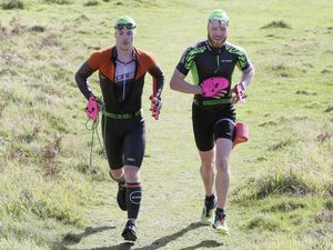 Pic by Adrian Miller 11-10-20 Run-Swim event Pleinmont to Pembroke.. (28786300)