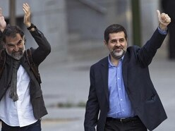 Two Catalan pro-independence leaders held in jail for sedition probe