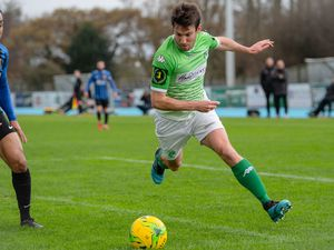 Pic supplied by Andrew Le Poidevin: 16-11-2019...GFC v Sevenoaks Town at Footes Lane. Ross Allen. (29558709)