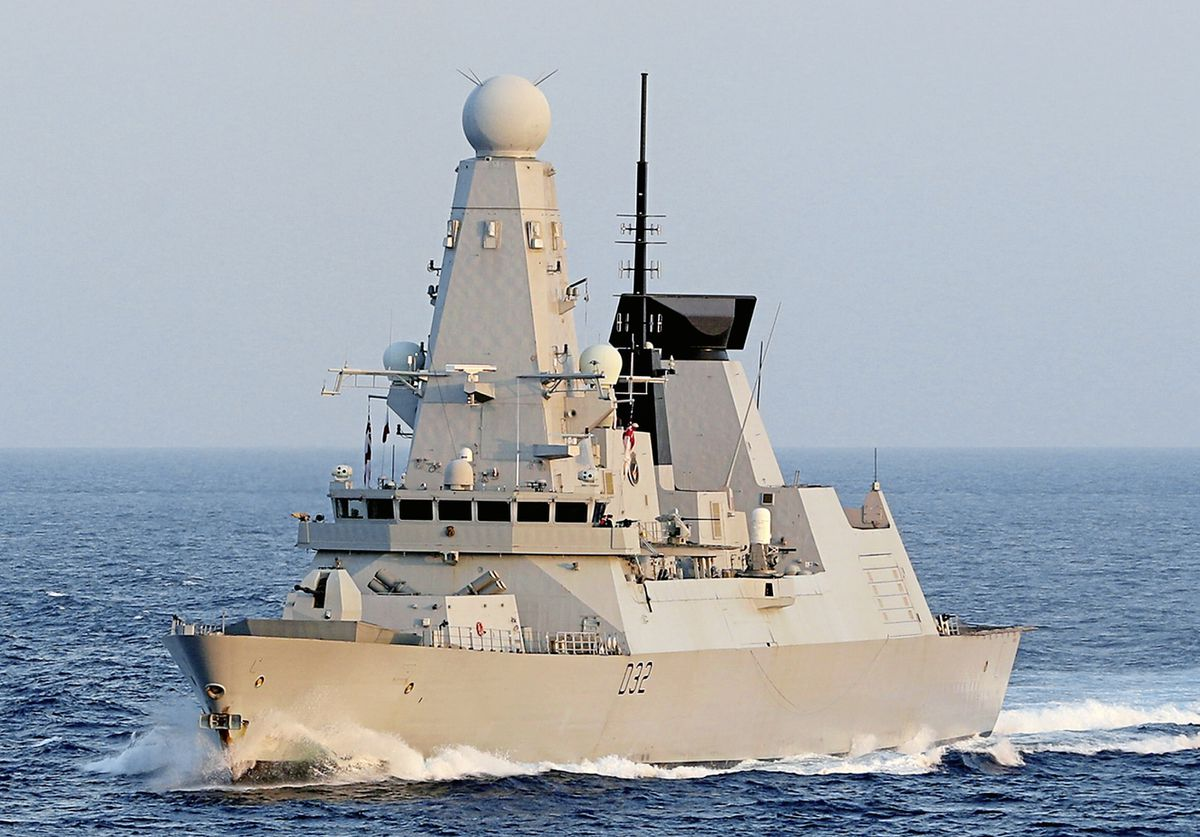 Guernsey-affiliated HMS Daring has been in Portsmouth for more than two years, but it due to have an upgrade this year which could see it return to operational duties. (Picture by LPhot Paul Hall)